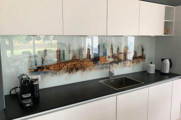 Küchenrückwand Glas Digitaldruck Hamburg