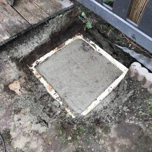 Terrassendach-Fundamente